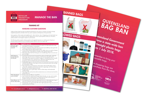 Free support for retailers preparing for Queensland bag ban