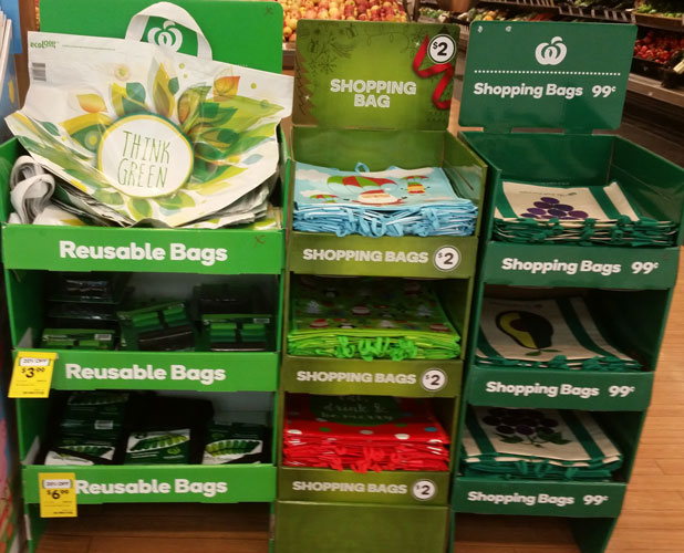 Woolworths banning plastic bags from June 20